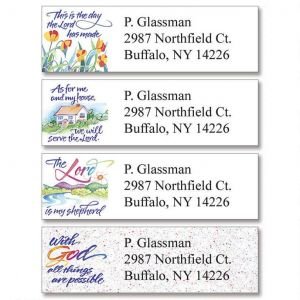 christian address labels love