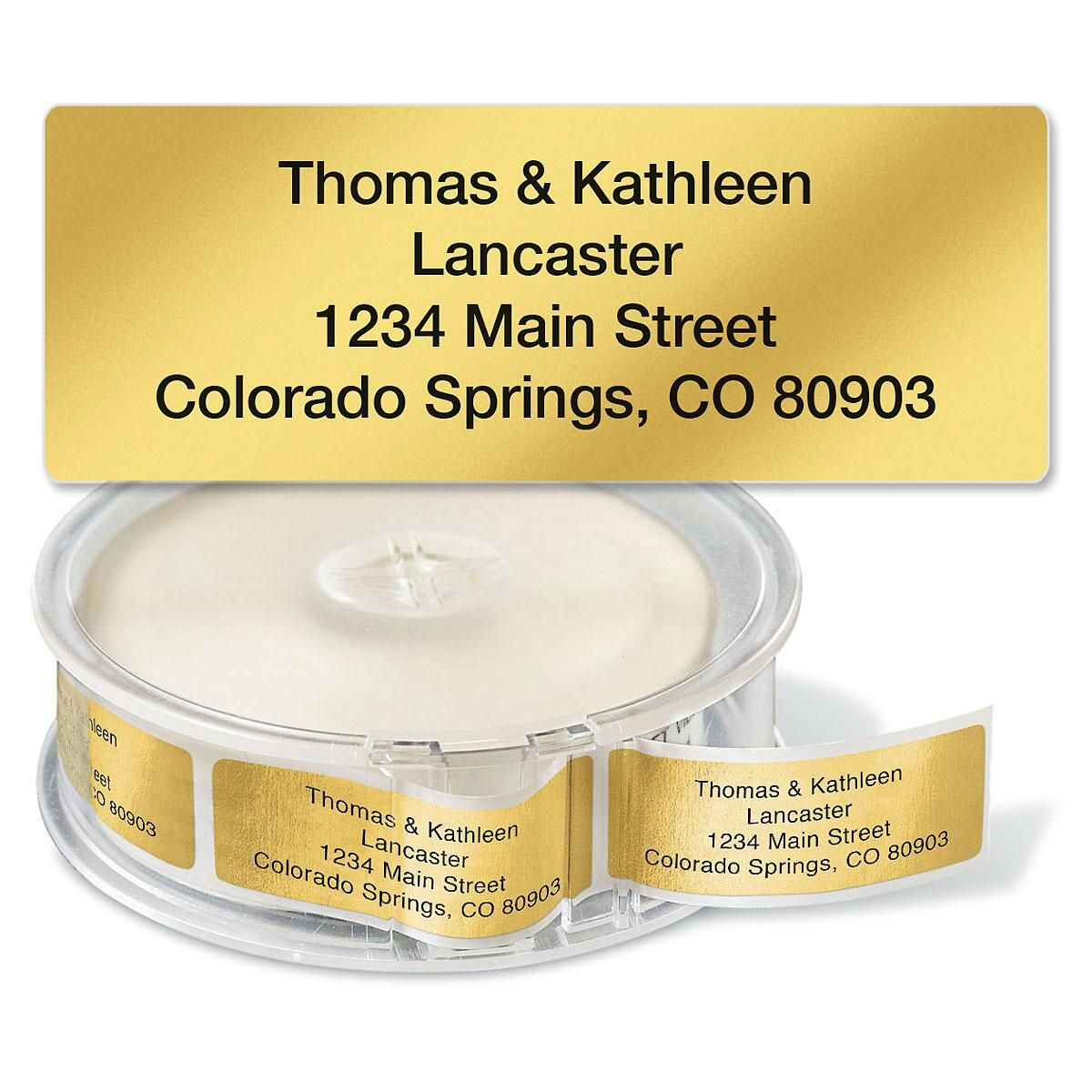 rolled address labels clear