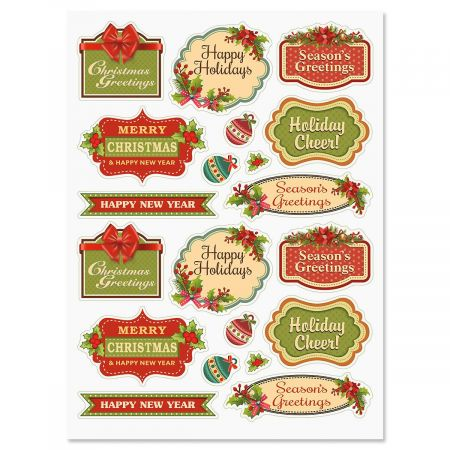 Vintage Christmas Stickers Current Catalog