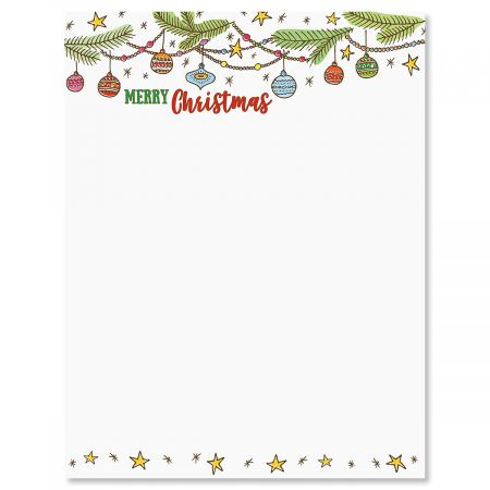 Ornament Christmas Letter Papers Current Catalog
