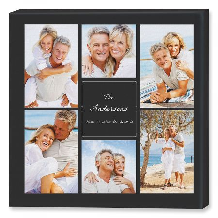 home heart collage canvas