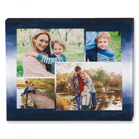 gradient blue collage canvas
