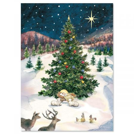 Christmas Tree With Manger Christmas Cards Current Catalog