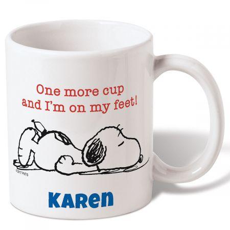 personalized snoopy coffee mug