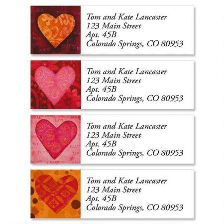 heart classic address labels