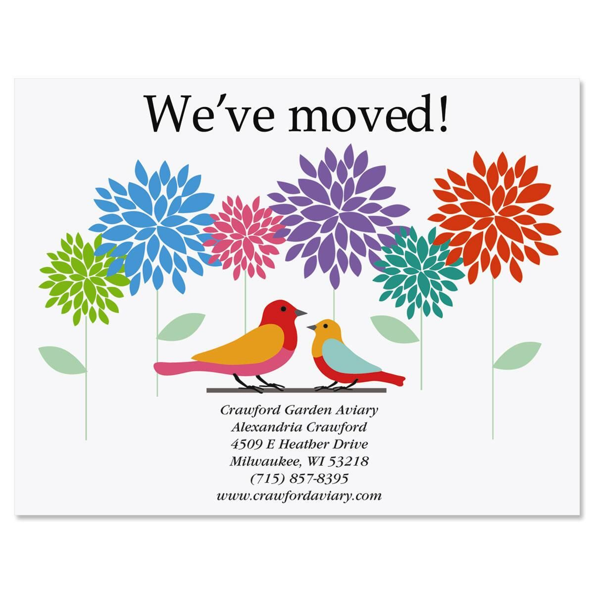 Sweet And Simple Moving New Address Postcards Current