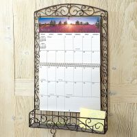 Bronze Swirls Wire Metal Calendar Holder | Current Catalog