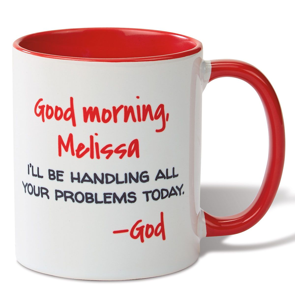 good morning personalized red