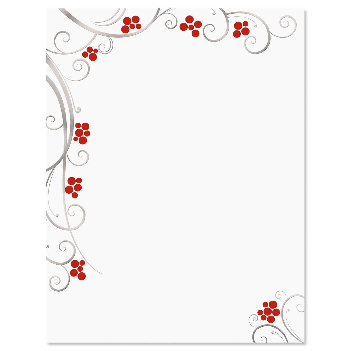 Berries Deluxe Christmas Letter Papers