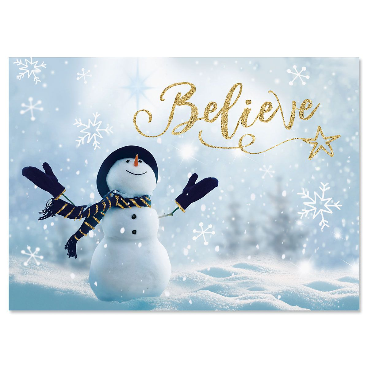 Believe Snowman Christmas Cards Current Catalog