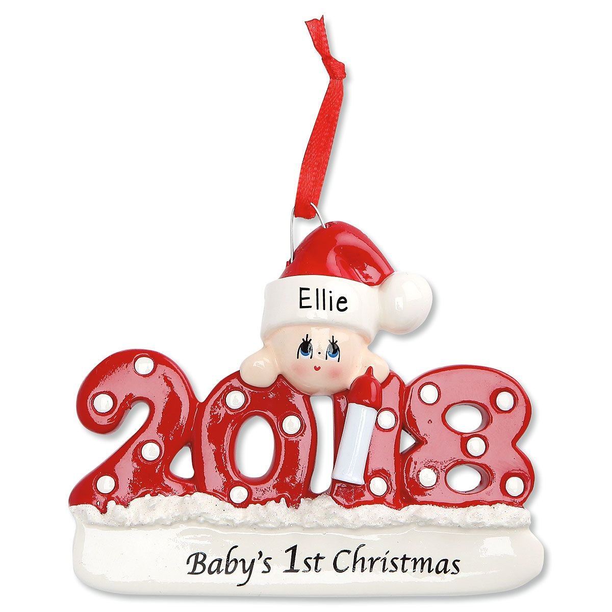 2018 Babys 1st Personalized Christmas Ornament Current