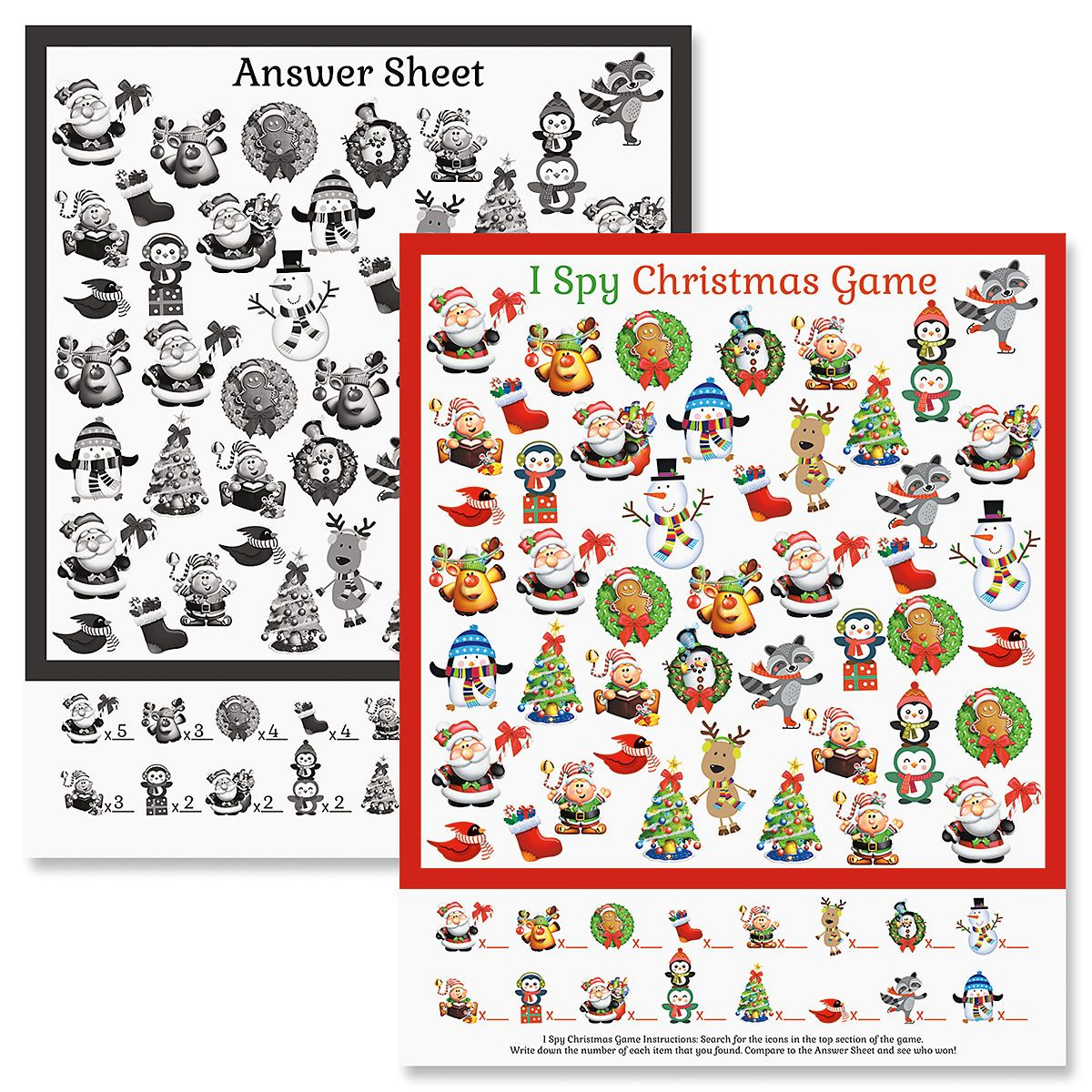 Christmas I Spy Game