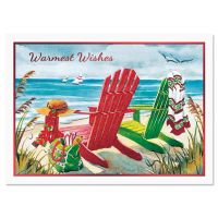 Beach Chairs Deluxe Christmas Cards | Current Catalog