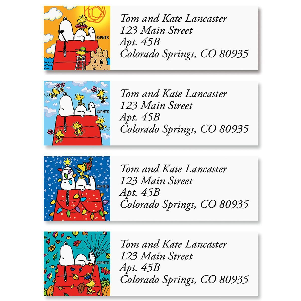 Peanuts Snoopy Four Seasons Classic Label Current Catalog