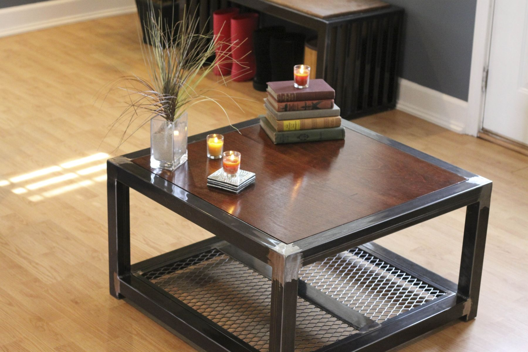 Hand Made Steel And Wood Coffee Table by Industrial Interiors  CustomMadecom