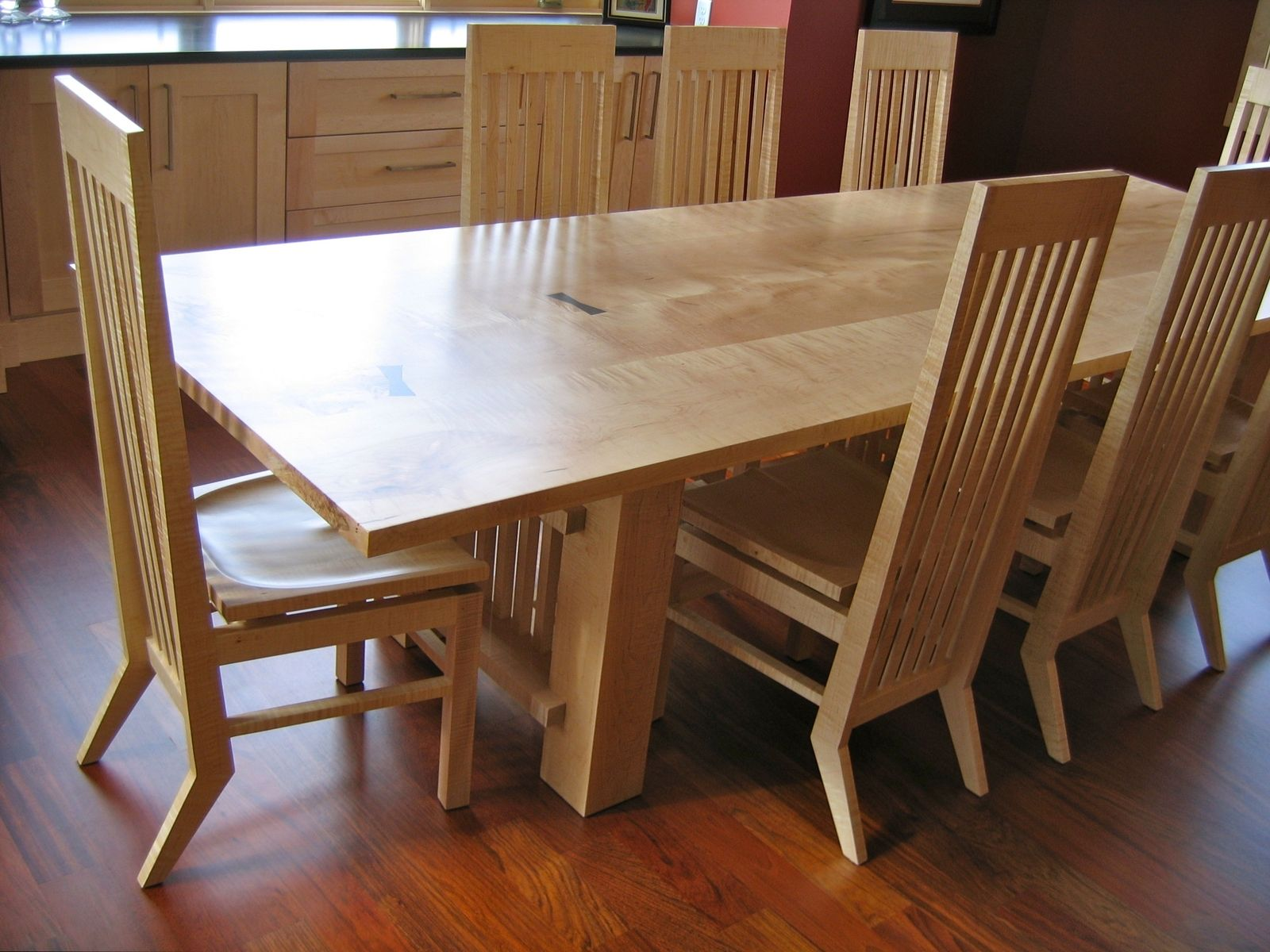 Hand Crafted Maple Dining Table by David Naso Designs  CustomMadecom