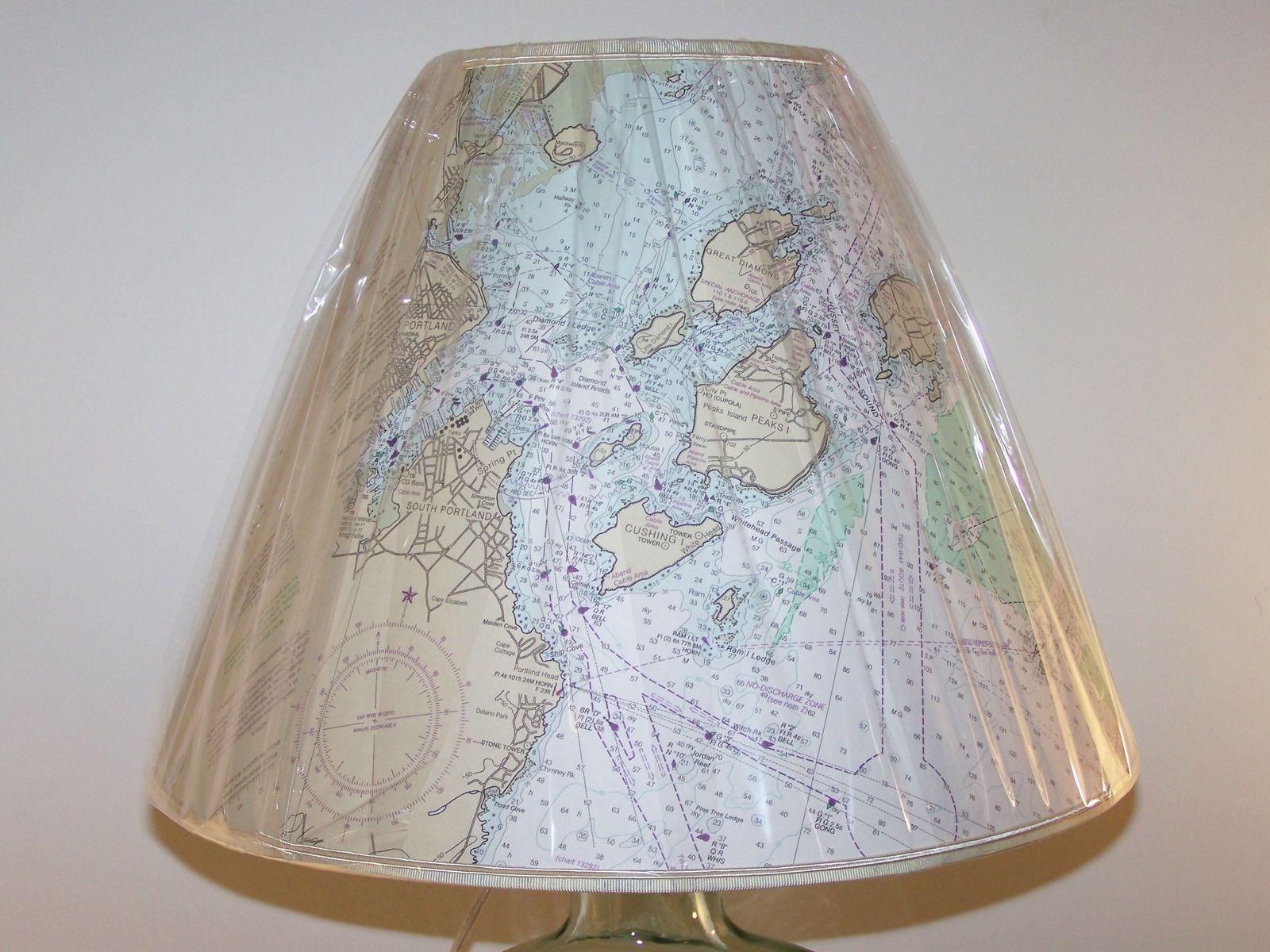 hight resolution of custom made custom made nautical chart lampshade