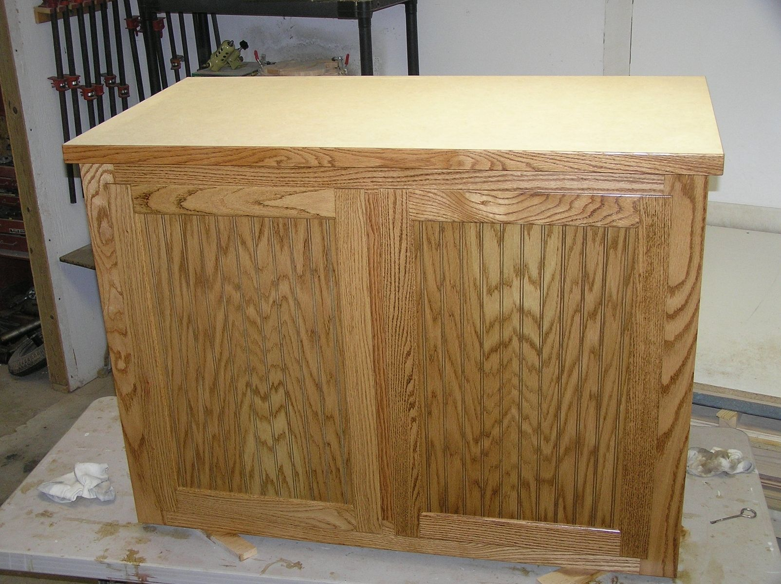 beadboard kitchen island home depot lights handmade oak and by new refurbish custom made