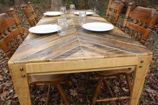 Custom Gathering Table (Chevron Style) Pallet Wood Table