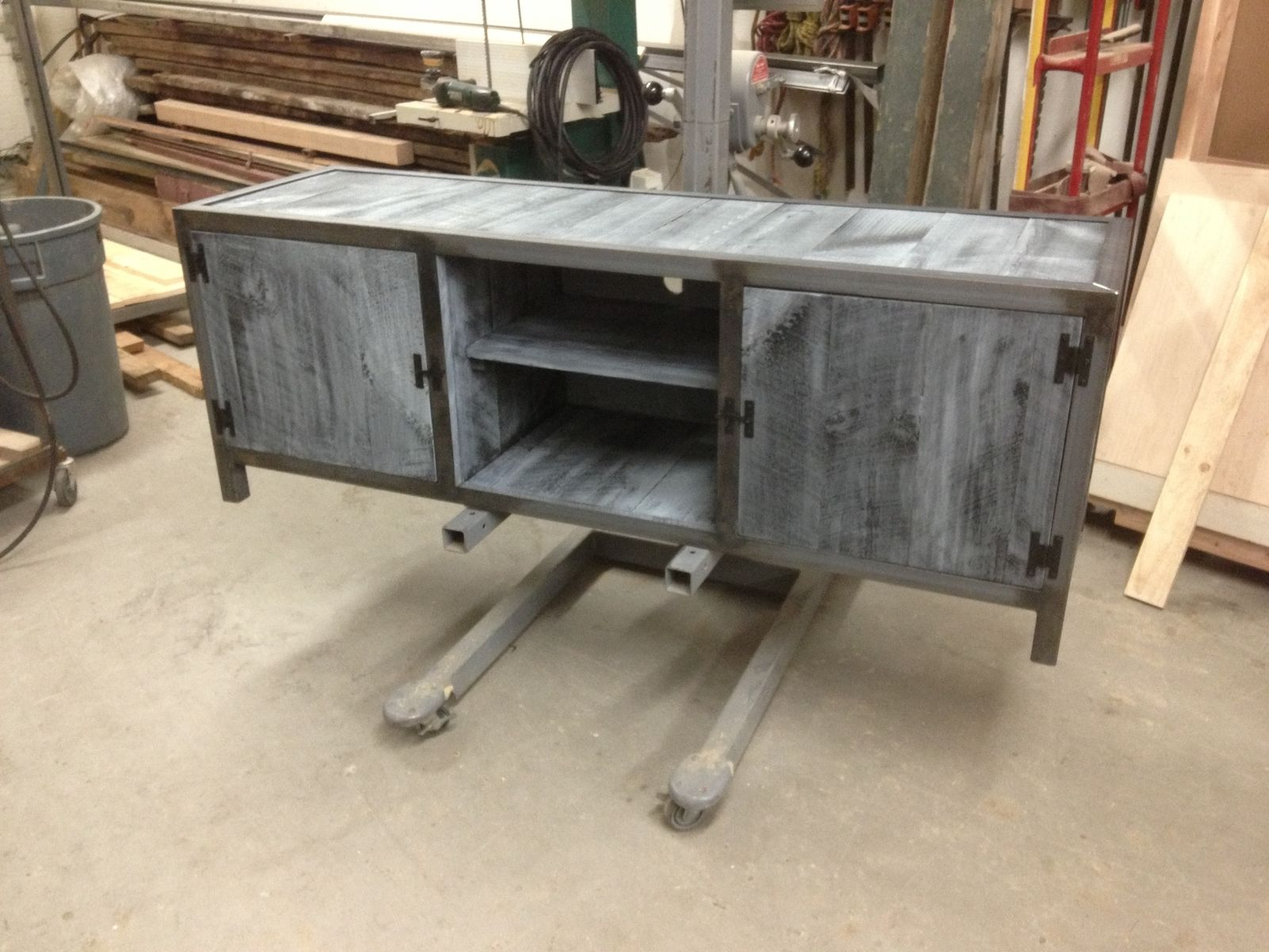 custom made sofa tables www dfs beds handmade industrial console table with blue washed pine by