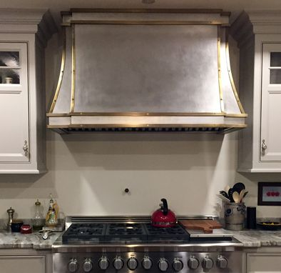 Custom Made Brass And Stainless Range Hood by Lightfast