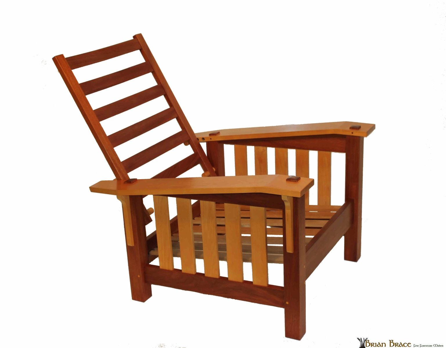 Morris Chairs Hand Crafted Mahogany And Maple Morris Chair By Brian