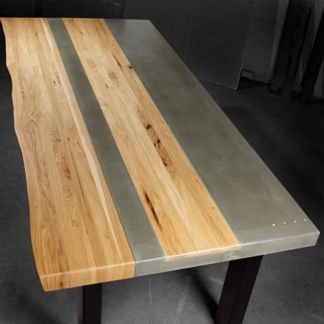concrete kitchen table island cart dining tables custommade com wood steel