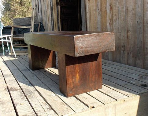 Custom Massive Walnut Timber Bench Coffee Table Tv Stand