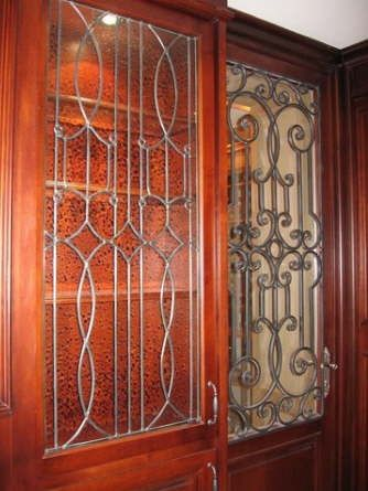 Handmade Leaded Glass Inserts For Cabinets by Glassworks Studio  CustomMadecom
