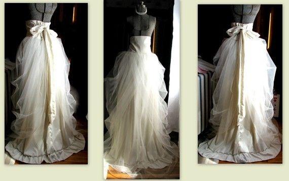 Custom Ivory Tulle Bridal Skirt By Ruffle N' Bustle