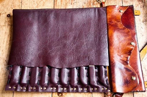 Custom Leather Chef Knife Rolls by Linny Kenney Leather