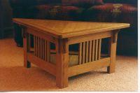 Hand Made Triangular Coffee Table by Whim Wood Custom ...