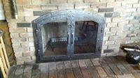 Handmade Custom Hammered Iron Fireplace Doors Fireplace ...