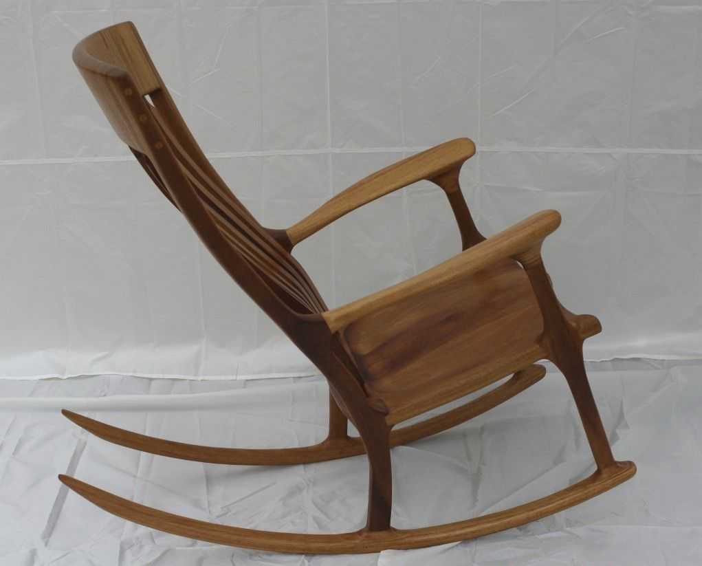 rocking chair with footstool india hickory dallas design center handmade iroko african teak by wood in motion custom made