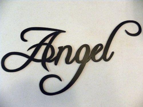 Custom Angel Word Decorative Metal Wall Art Home Decor By