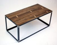 Hand Crafted Salvaged Black Walnut Industrial Coffee Table ...