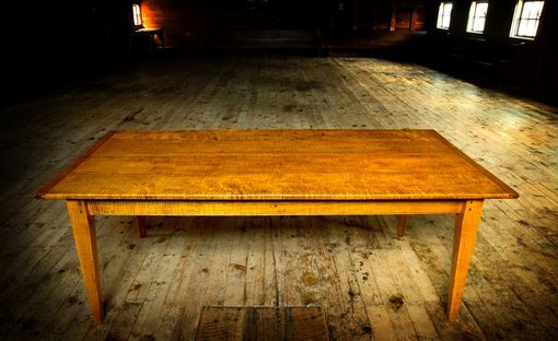 Hand Crafted Tiger Maple 7X40 Dining Table By Carolina