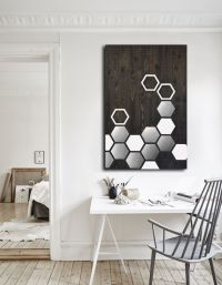 Buy a Custom Mod Honeycomb 36x24 - Wood Wall Art, Metal ...
