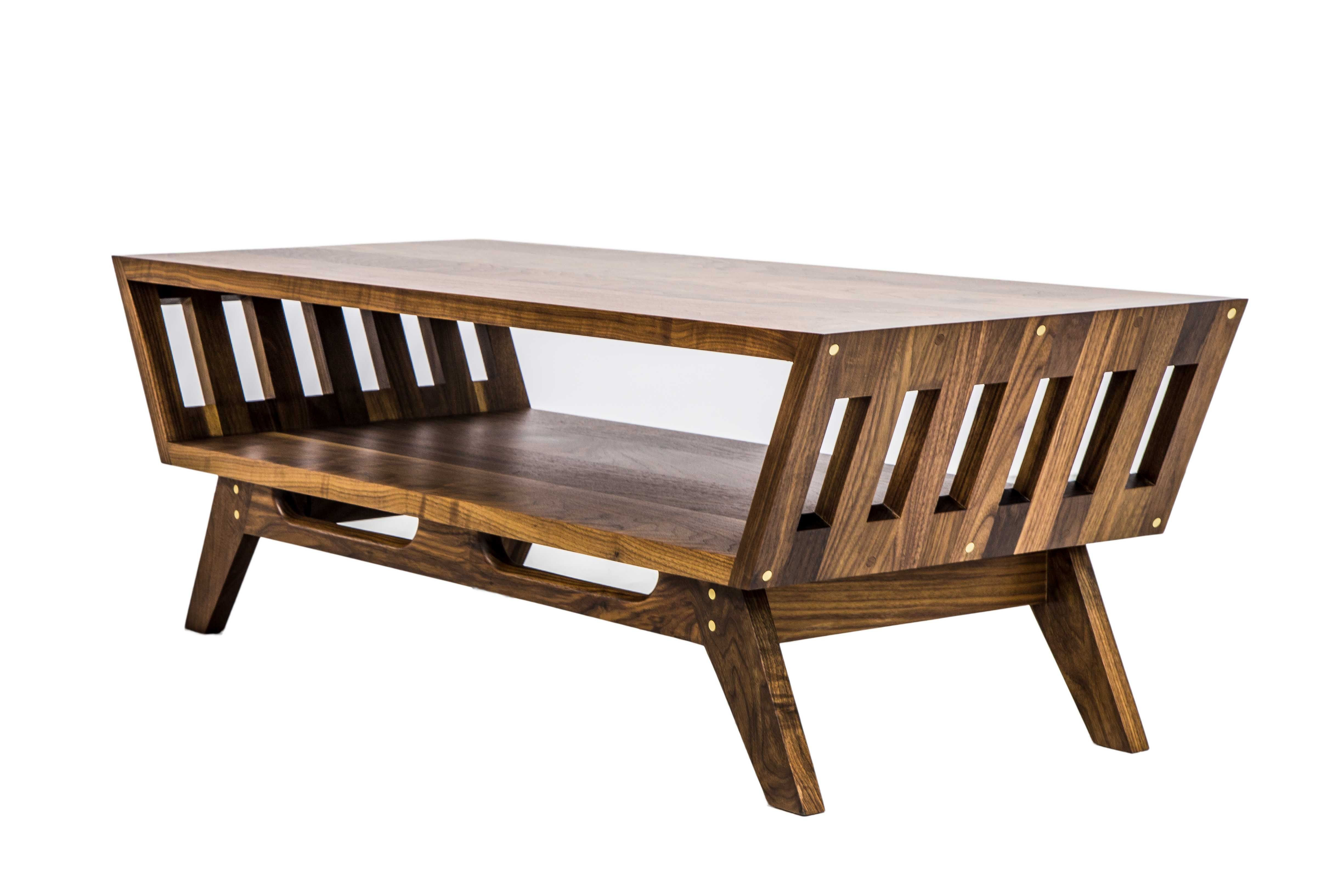 The April V2 Midcentury Modern Walnut Coffee Table