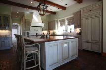 Handmade Custom Kitchen With Glazed Cabinets Northshore