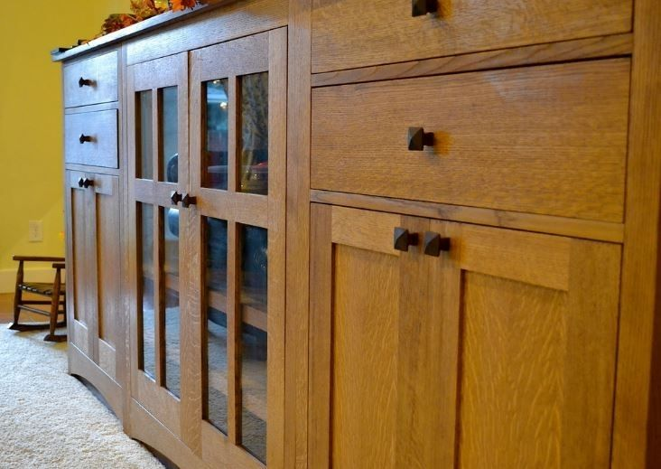 Handmade Craftsman Style Entertainment Center By Studio