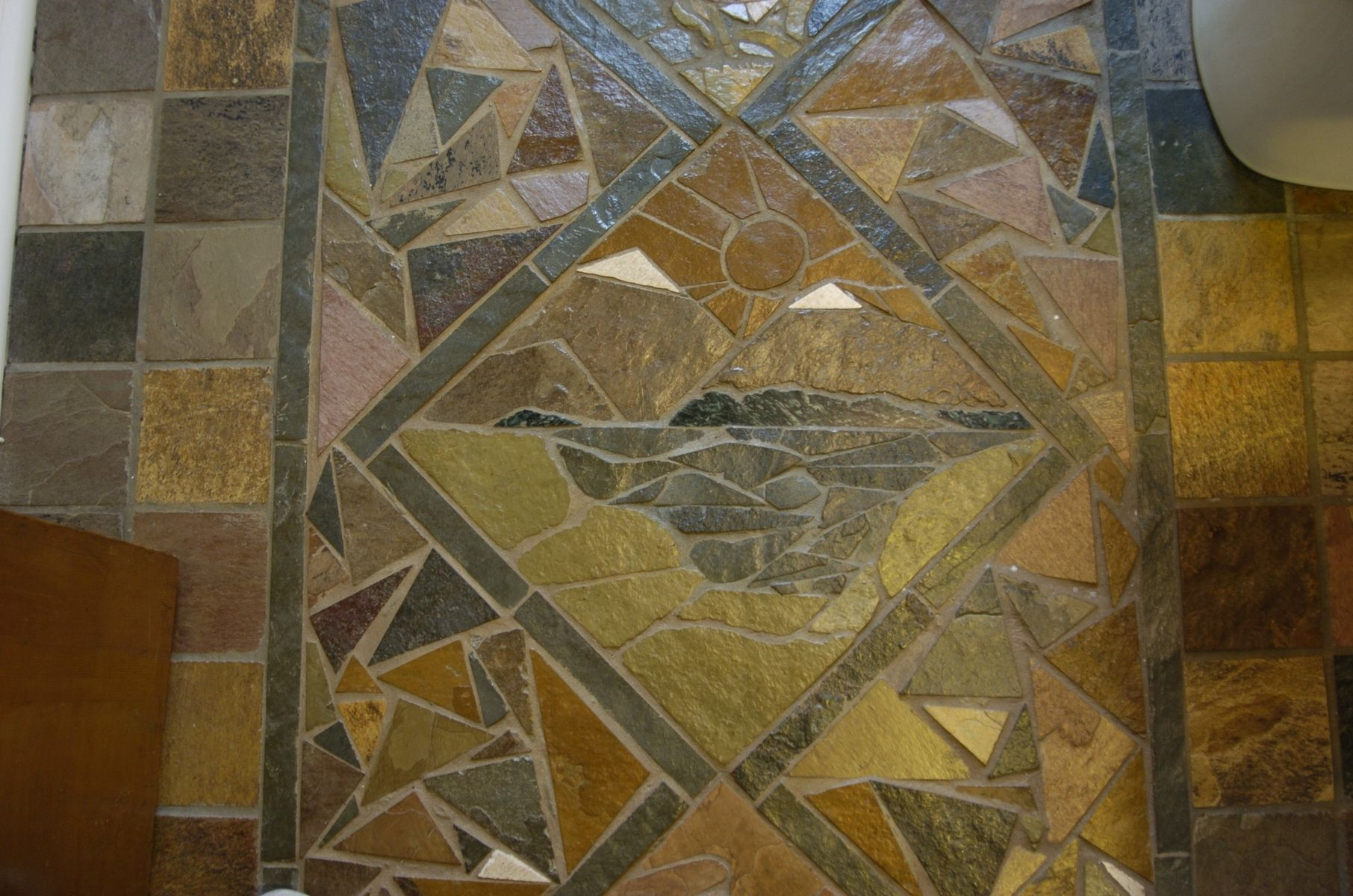 Hand Crafted Slate Mosaic Floor by VanDorn Turpen  CustomMadecom