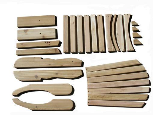 adirondack chairs kits wishbone custom chair kit set by garden furniture mill made