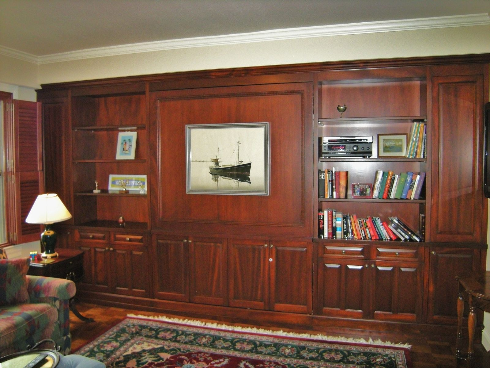 Custom Built In Murphy Bed And Shelving By Bayne S Quality Custom Furniture Inc Custommade Com