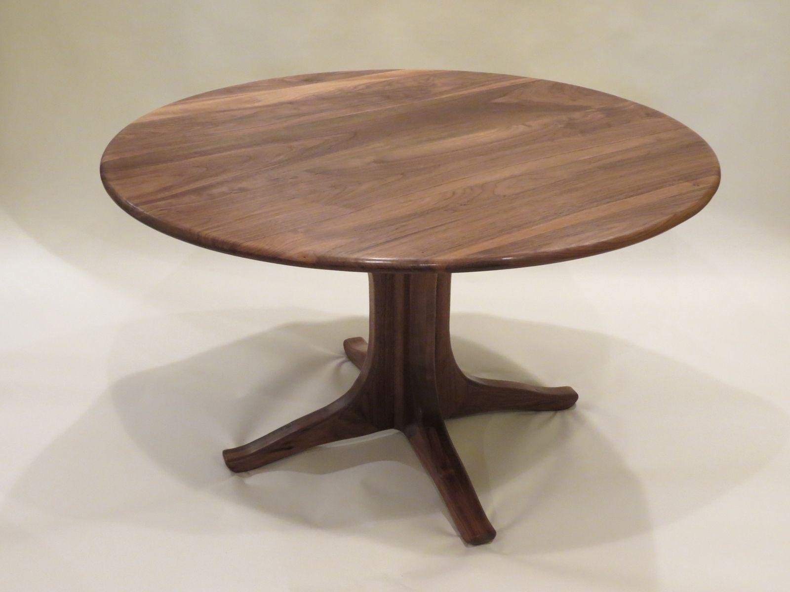 Custom Walnut Pedestal Dining Table By Lost Creek
