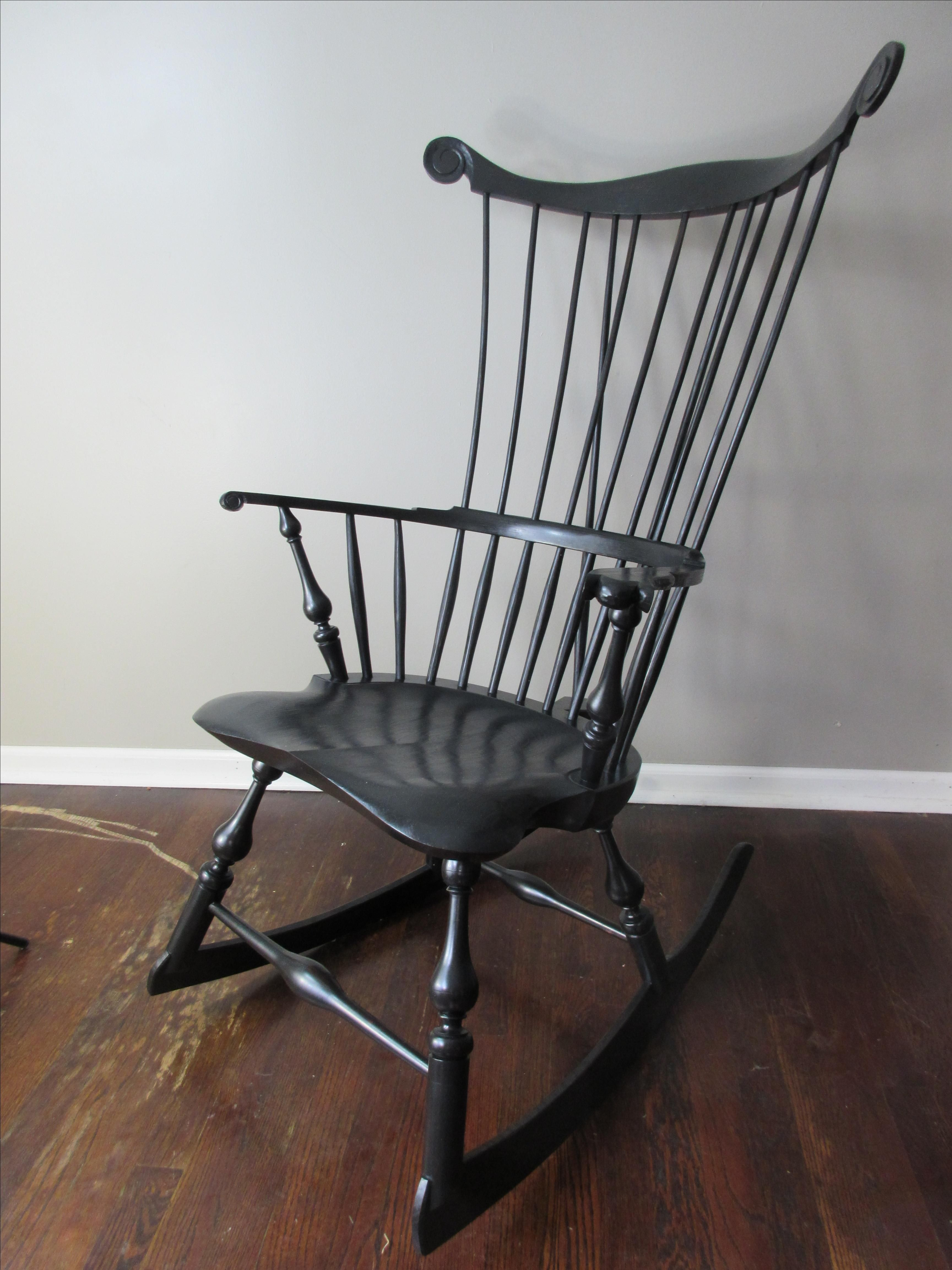 Hand Crafted Comb Back Windsor Rocking Chair by Luke A
