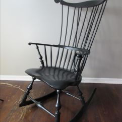 Comfortable Rocking Chair Antique Queen Anne Hand Crafted Comb Back Windsor By Luke A. Barnett Chairmaker | Custommade.com