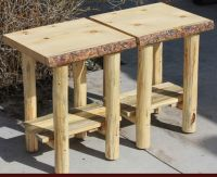 Hand Made Rustic Log End Tables, Nightstands And Coffee ...