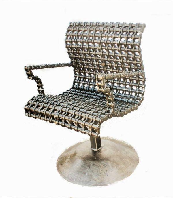 Handmade Custom Chain Art Chair Raymond