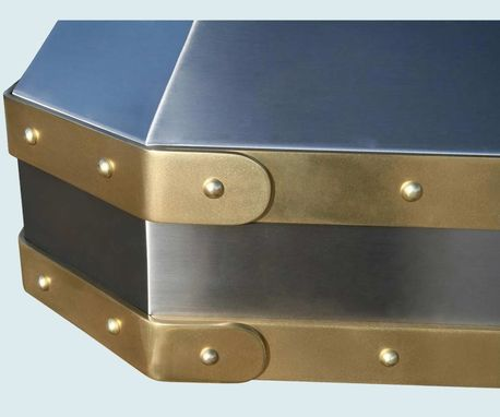 Hand Made Stainless Range Hood Brass Straps Amp Rivets By